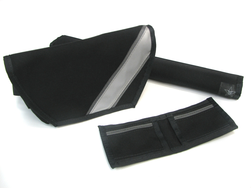 Black Hip Pouch with reflective